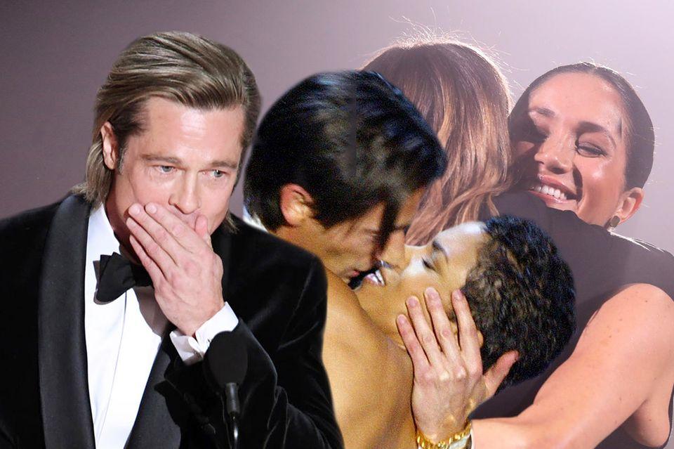"Stars sagen ""Danke"": Brad Pitt, Adrien Brody + Halle Berry, Herzogin Meghan"