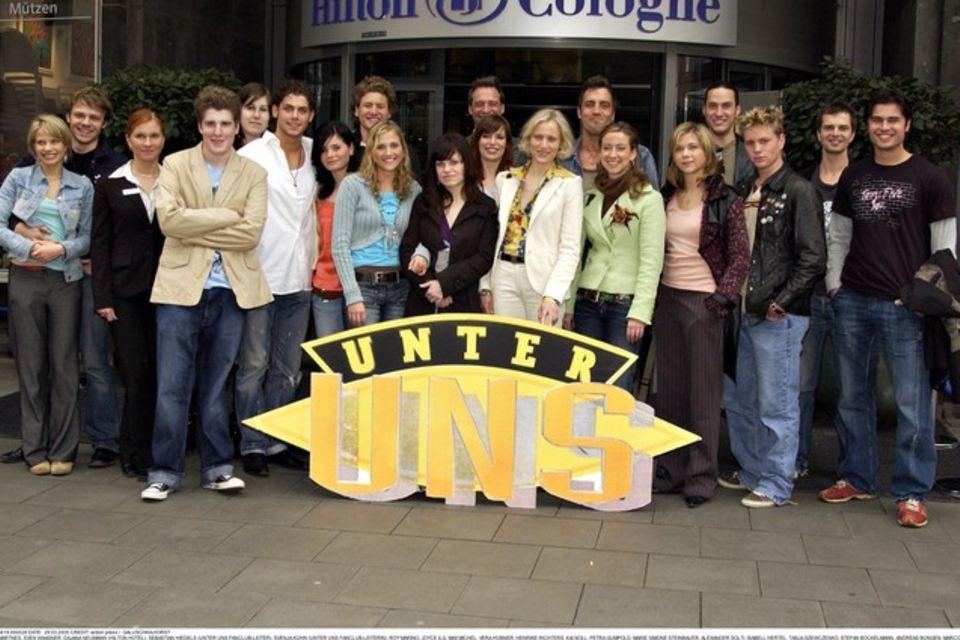 """Der """"Unter uns""""-Cast aus dem Jahr 2005"""