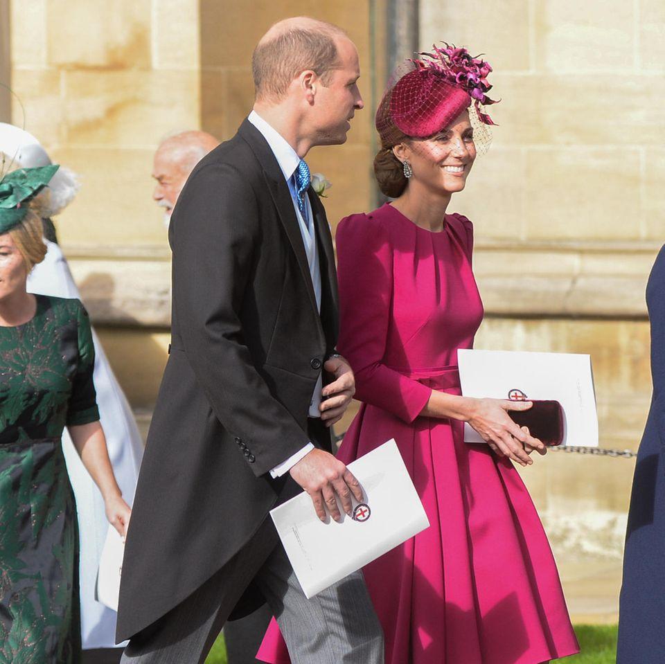 Prinz William und Herzogin Catherine, hier bei der Hochzeit von Prinzessin Eugenie im Oktober 2018.
