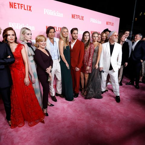 Jessica Lange, Zoey Deutch, Lucy Boynton, Bette Midler, Brad Falchuk, Gwyneth Paltrow, Ben Platt, Laura Dreyfuss, Julia Schlaepfer, Cindy Holland und Ryan Murphy