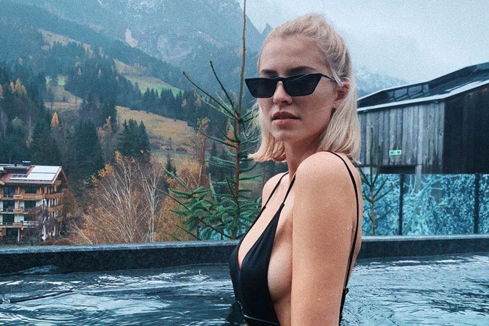 Model Lena Gercke im Naturhotel Forsthofgut.