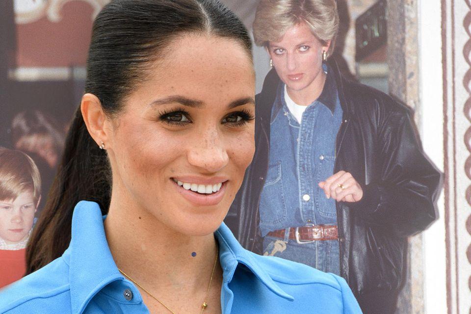 Herzogin Meghan + Lady Diana