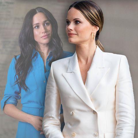 Herzogin Meghan und Prinzessin Sofia (Foto-Collage)