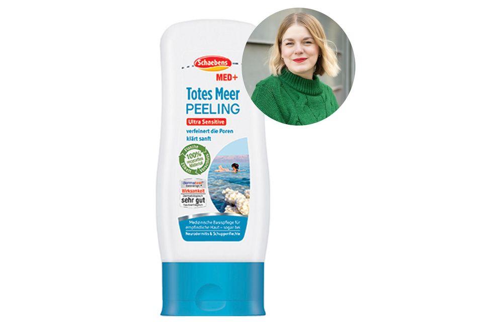 """Das """"Totes Meer Peeling"""" von Schaebens hat das Gesicht von Volontärin Julia wunderbar sanft gereinigt. Und das Beste: Es ist frei von Silikonen, Paraffinen, Parfüm, Farbstoffen und tierischen Inhaltsstoffen."""