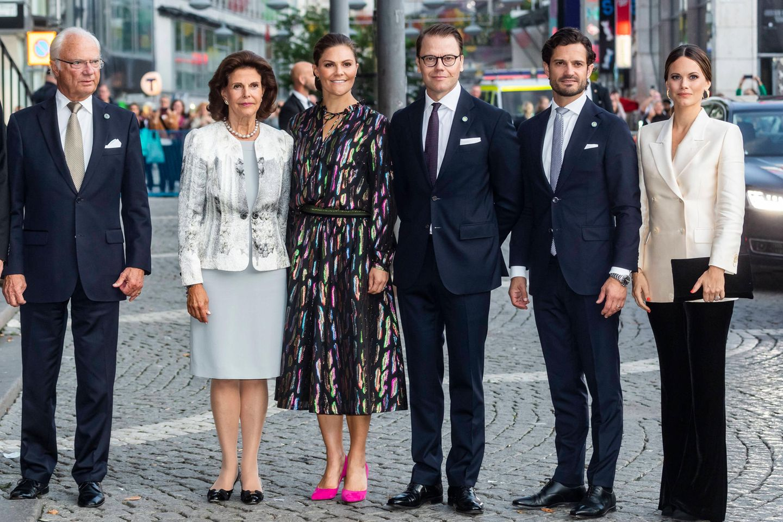 König Carl Gustaf und seine Familie: Silvia, Victoria, Daniel, Carl Philip und Sofia (v.l.n.r.)