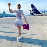 """Ab nach Bremen! In diesem wunderschönen Sommerlook macht sich Victoria Swarovski auf den Weg zur nächsten Show von """"Das Supertalent"""" ..."""