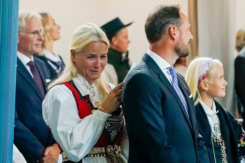 Prinzessin Mette-Marit bei der Konfirmation ihres Sohnes Sverre Magnus