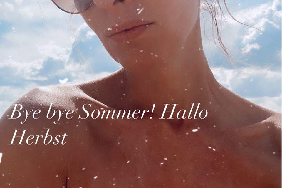 Mareile Höppner verabschiedet sich auf Instagram vom Sommer.