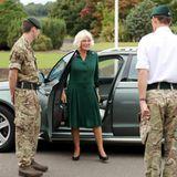 7. September 2020  Herzogin Camilla läutet mit dem heutigen Termin das Ende der Sommerpause ein.Ihr Weg führt sie zu den Beachley Barracks, einer Militärbasis, in Chepstow, Wales.
