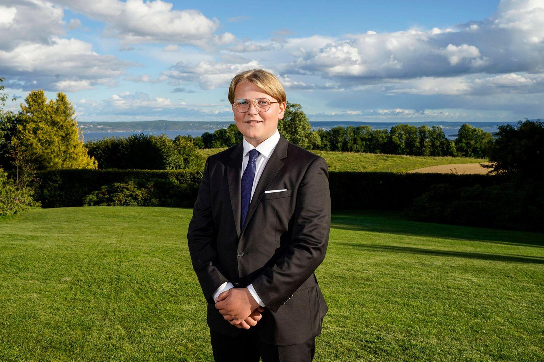 Prinz Sverre Magnus ist der Sohn von Prinz Haakon und Prinzessin Mette-Marit von Norwegen.