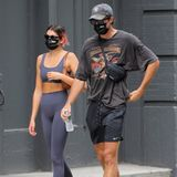 Kaia Gerber und Jacob Elordi in Gym-Klamotten