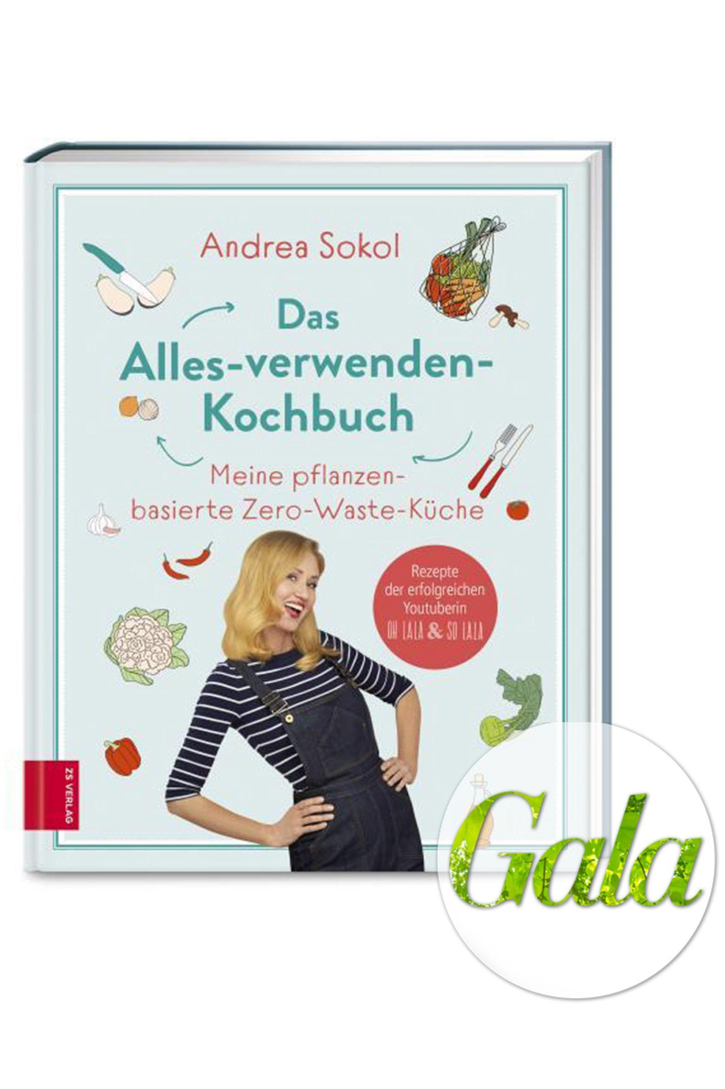 """Alles verwenden – ein Motto, das Andrea Sokol in ihrem Küchenalltag lebt und in ihrer neuen Rezeptsammlung """"Das Alles-verwenden-Kochbuch"""" vorstellt. Die Ernährungsberaterin und Moderatorin zeigt darin, wie einfach es ist, vermeintliche Essensreste zu vermeiden und clever zu verwerten. 75 vegane Rezepte und praktische Alltagstipps rund um das Thema Nachhaltigkeit in der Küche wartenin dem Kochbuch auf neugierige Leserinnen und Leser. Ab Oktober 2020 im Handel, ca. 22,99 Euro"""