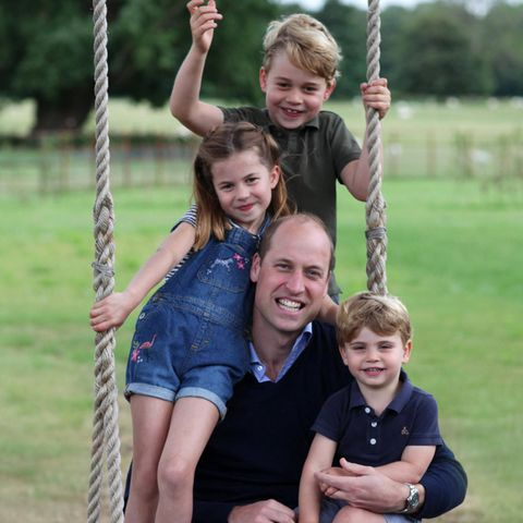Prinz George, Prinzessin Charlotte, Prinz William und Prinz Louis