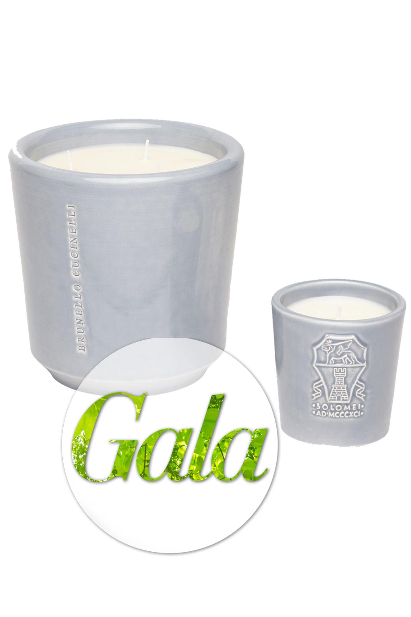 Sorgt für ein romantisches Licht und einen Duft von Ebenholz:Die Kerze von BRUNELLO CUCINELLI besteht aus hydrogeniertem Paraffin, das für die Lebensmittelverwendung zugelassen und frei von Giftstoffen ist. Die Brenndauer der Kerze liegt bei ungefähr 60 Stunden. Der Docht der Kerze ist aus Baumwolle, kostet ca. 120 Euro.