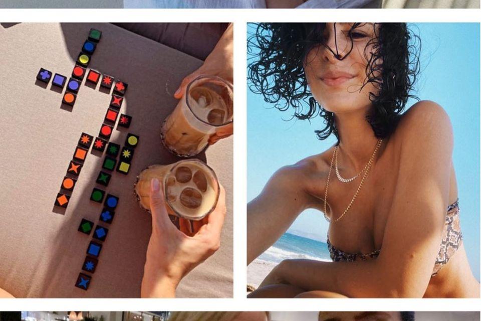 Lena Meyer-Landrut und ihre Freundin Anna Burstorf lassen es sich um Urlaub gutgehen.