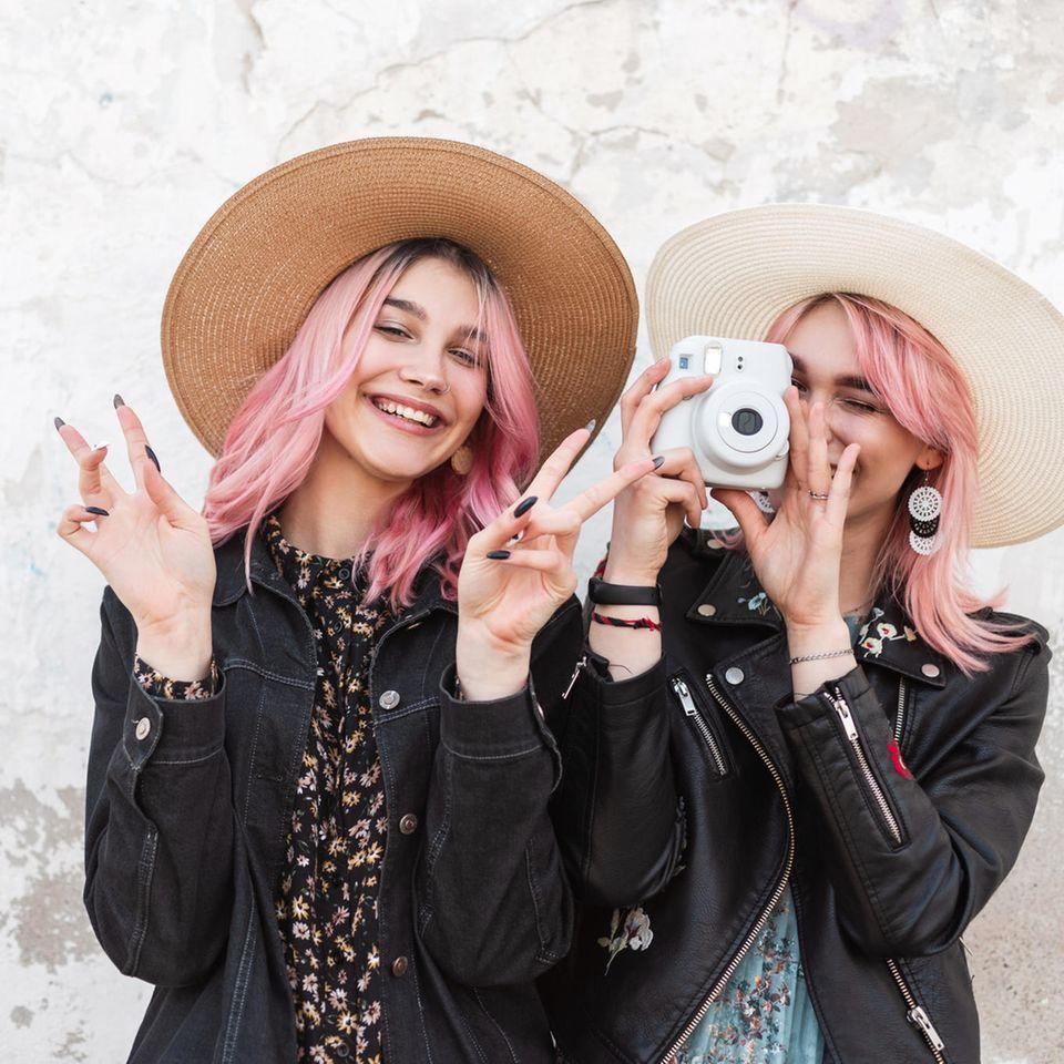 Sofortbildkameras, Mädchen, Schnappschuss