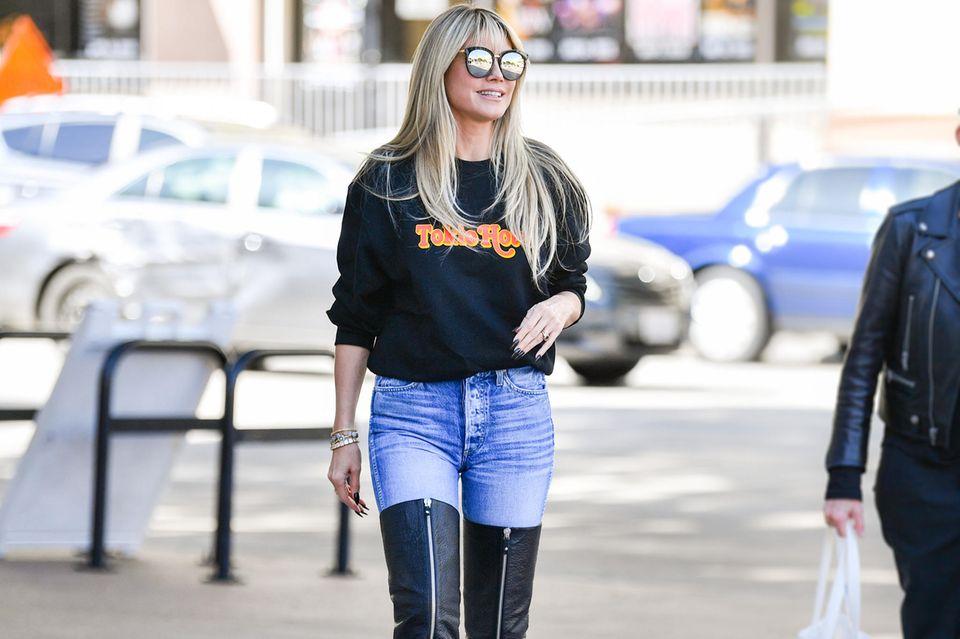 Heidi Klum steht auf sexy Overknee-Stiefel.