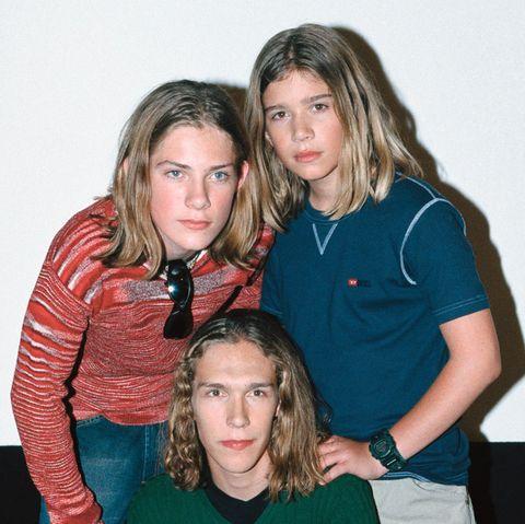 Taylor, Zac und Isaac Hanson im Jahr 1998