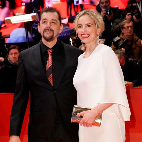 Nina Hoss mit Alex Silva bei der Eröffnung der 70. Berlinale im Februar 2020.