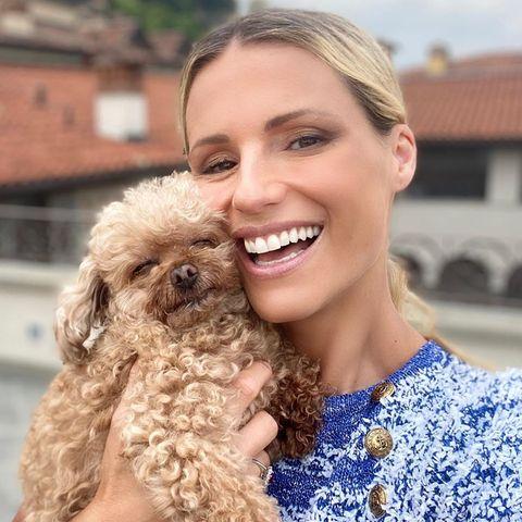 Michelle Hunziker und Hund Lilly