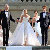 Sylvie Meis trägt ein Brautkleid von Galia Lahav