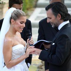 Sylvie Meis trägt Chopard Schmuck bei ihrer Hochzeit