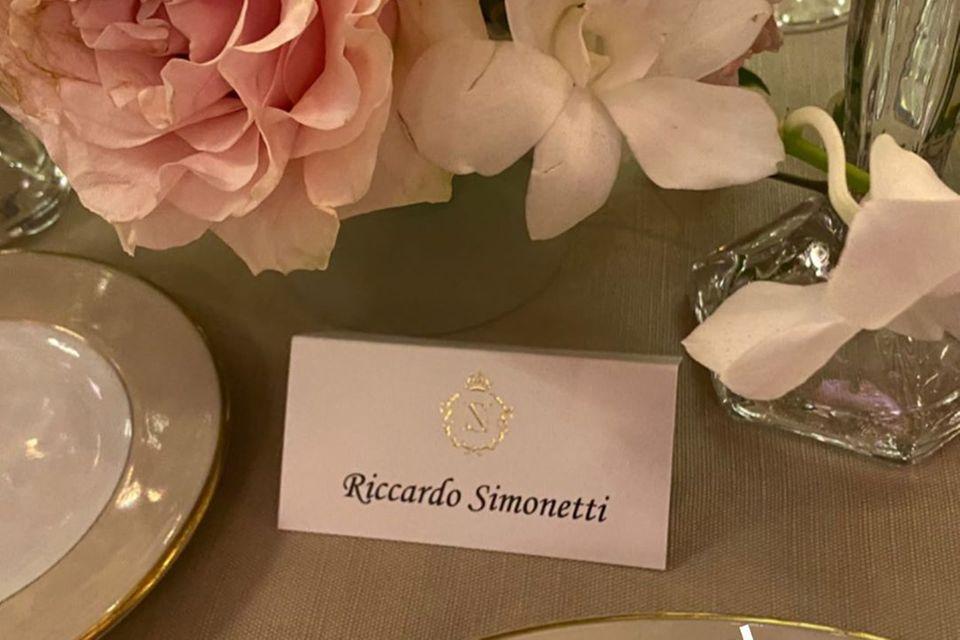 Riccardo Simonetti ist begeistert von der Tischdeko