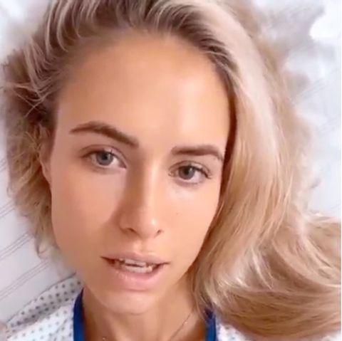 Alena Gerber liegt im Krankenhaus