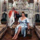 Serena Goldenbaum und ihr Mann Michael dürfen natürlich nicht fehlen: Serena ist nicht nur Sylvies Hair- und Make-up-Artistin sondern mittlerweile auch eine enge Freundin der Braut. Die beiden setzen sich vor majestätischer Kulisse in Szene.