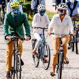 Die belgische Königsfamilie radelt der Natur zu Liebe mit gutem Beispiel voran: Mit dem Fahrrad geht es König Philippe, Königin Mathilde und den Kindern am autofreien Sonntag auf zum Haus der Europäischen Geschichte in Brüssel. Im Rahmen der European Heritage Days möchte die belgische Königsfamilie mit dem Museumsbesuch auf die Bedeutung des kulturellen Erbes aufmerksam machen.