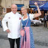 Alfons Schuhbeck undKabarettistin Monika Gruber zeigen sich beim Wirtshaus Wiesn Opening in Schuhbeck's Orlando von ihrer besten Seite.
