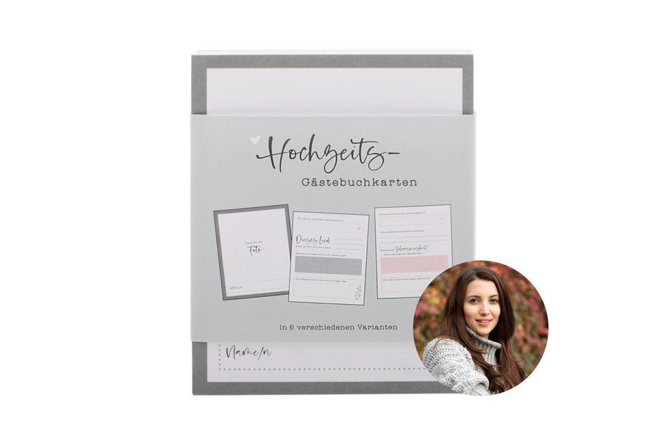 Auf Knopfdruck kreativ sein, manchmal leichter gesagt als getan. Gästebuchkarten erleichtern Hochzeitsgästen jetzt den Eintrag ins Erinnerungsbuch.