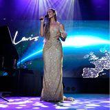 In spektakulärer Atmosphäre singt Leona Lewisfür den guten Zweck.