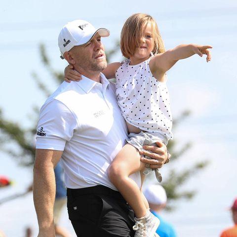 Mike Tindall mit Tochter Mia im Juli 2019 bei einem Charity-Event in Newport.