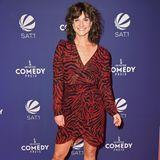 Marlene Lufen im Tigerprint-Kleid beim Comedypreis