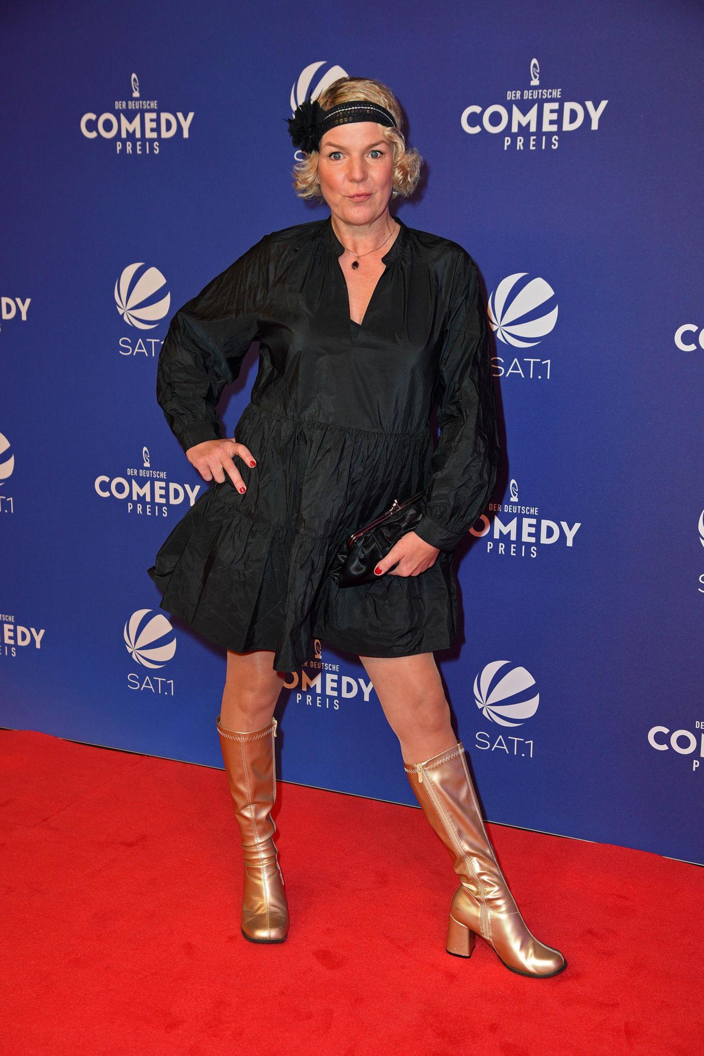 Die goldenen 20er-Jahre - Komikerin Mirja Boes lässt sich bei ihrem Comedypreis-Look von der Vergangenheit inspirieren.