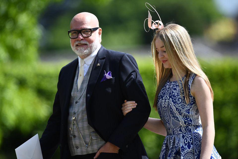 Gary Goldsmith und seine Tochter auf dem Weg zu Pippa Middletons und James Matthews' Hochzeit