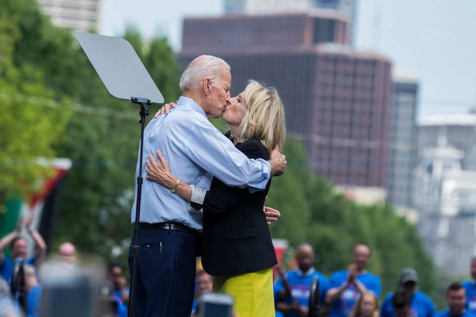 Wahre Liebe: Joe und Jill Biden inPhiladelphia.