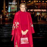 Königin Máxima im roten Power-Look