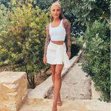 Sophia Thomalla im weißen Unschulds-Look