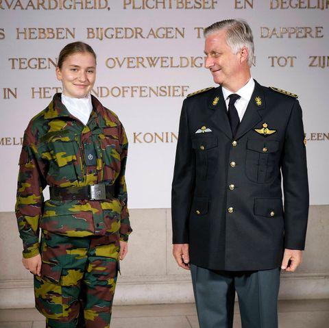 Kronprinzessin Elisabeth und König Philippe von Belgien bei deroffiziellen Eröffnung des akademischen Jahres der Königlichen Militärakademie