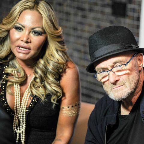 Orianne Cevey und Phil Collins