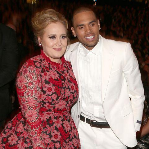 Adele und Chris Brown bei den Grammys 2013