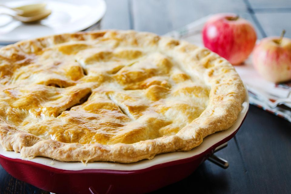 Gedeckter Apple Pie