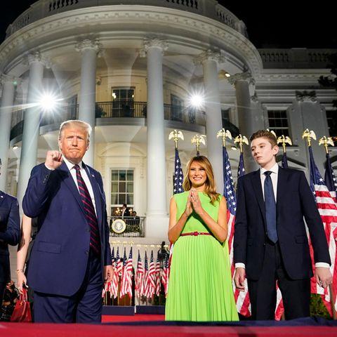 Donald Trump , Melania + Barron