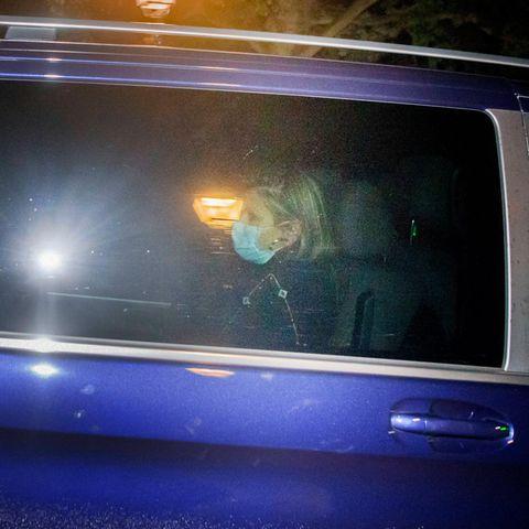 Königin Maxima nach dem abgebrochenen Griechenland-Urlaub der niederländischen Königsfamilie bei der Rückkehr ins Schloss Huis ten Bosch in Den Haag, Niederlande, 17. Oktober 2020.