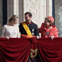 Auch Guillaumes Eltern, Großherzog Henri und GroßherzoginMaria Teresa von Luxemburg strahlen mit den royalen Brautpaar um die Wette.