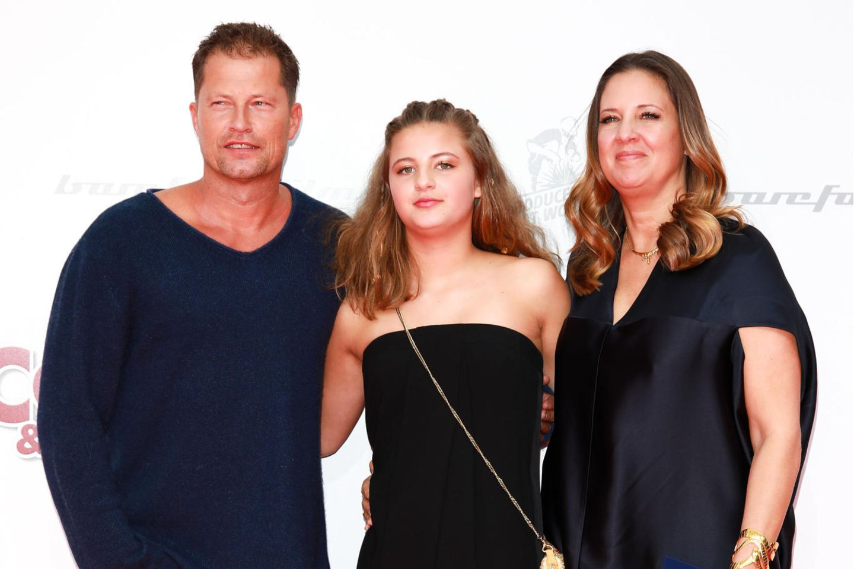 Til Schweiger mit Tochter Emma Schweiger und Exfrau Dana Schweiger