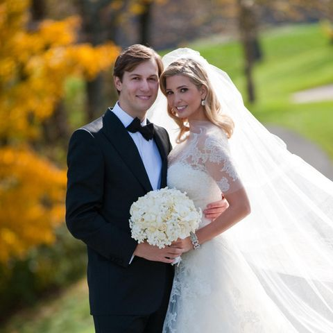 Am 25. Oktober 2009 gaben sich Ivanka Trump und Jared Kushner das Ja-Wort. Die Ehe hält bis heute - beide sind mittlerweile Eltern von drei Kindern.