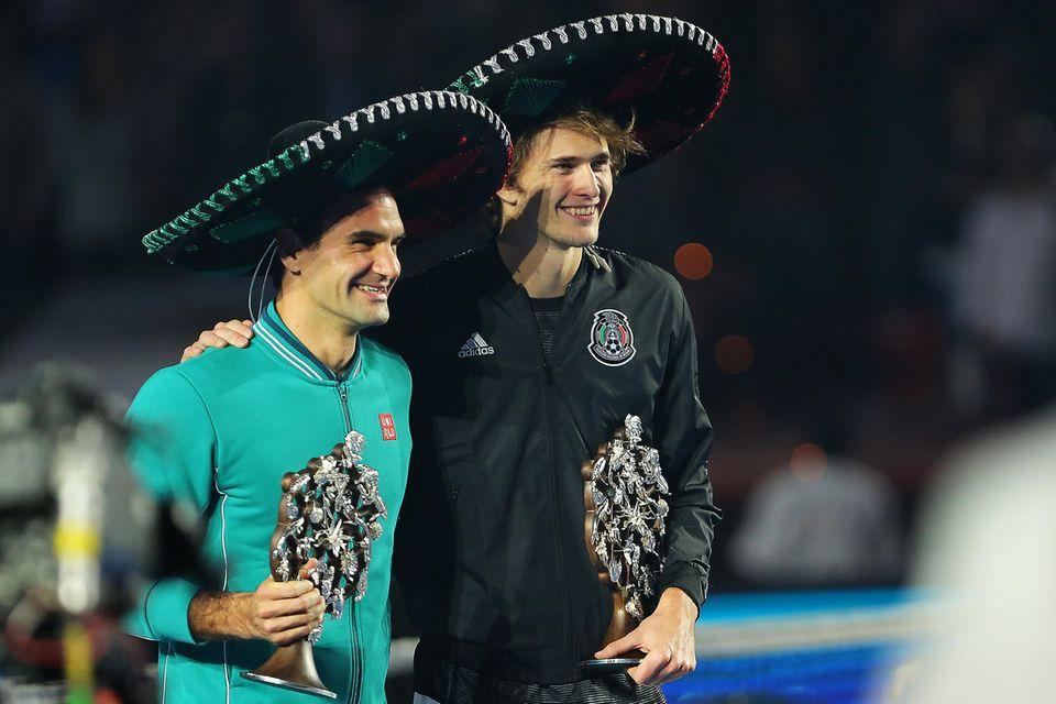 Roger Federer und Alexander Zverev